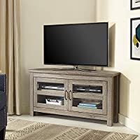 New 44 Inch Wide Corner Television Stand-Driftwood Finish