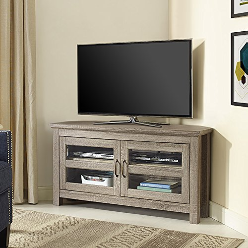 New 44 Inch Wide Corner Television Stand-Driftwood Finish by Home Accent Furnishings