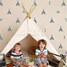 Set of 68 Tribal Decals Teepee arrow triangle kids room wall decal stickers wallpattern (Silver)