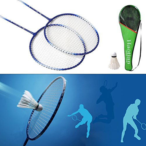 Shalleen New 1 Pair Badminton Racket High-strength Aluminium Alloy Racquet Bag Badminton (Lightest Titanium Frame)