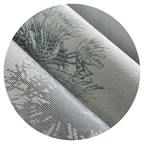Amazing21 High End Coffee/Gray Dandelion Jacquard Faux Linen Curtains for The Bedroom Windows Drapes Fabric for Living Room,Light Blue Curtain,W100Cmxl250Cm,Pencil Pleat (Best Male Masterbation Methods)
