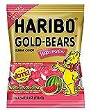 Haribo Gold Bears Gummi Candy Limited Edition Watermelon Flavor, 4 Ounce Bag