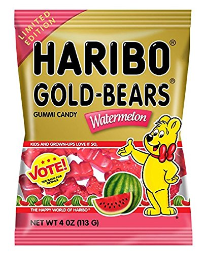 haribo-gold-bears-gummi-candy-limited-edition-watermelon-flavor-4-ounce-bag