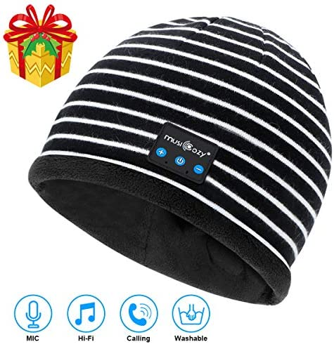Bluetooth Beanie V5.2 Wireless Beanie Hat with Bluetooth Headphones,Built-in HD Stereo Speakers Mic,Cool Tech Gadgets Christmas Unique Gifts for Men Women Dad Mom Teen Boys Girls