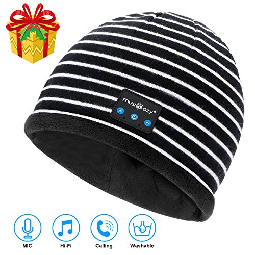 Bluetooth Beanie V5.2 Wireless Beanie Hat with Bluetooth Headphones,Built-in HD Stereo Speakers & Mic,Cool Tech Gadgets…