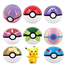 2.8 Inch ABS Pokemon Pokeball Cosplay Pop-up Poke Ball Fun Toys Kids Children Toy Pack of 8