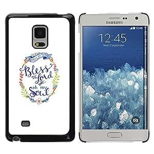 "Pulsar Snap-on Series Teléfono Carcasa Funda Case Caso para Samsung Galaxy Mega 5.8 , Usted dios minimalista texto blanco"""
