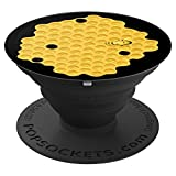 Bee w/ Honeycomb - PopSockets Grip and Stand for Phones and Tablets