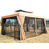10 x 13 Two-Tiered Gazebo Replacement Canopy - RipLock 350 offers