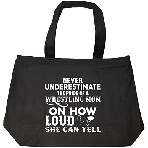 Never Underestimate The Pride Of A Wrestling Mom - Tote Bag With Zip by URBANTURB