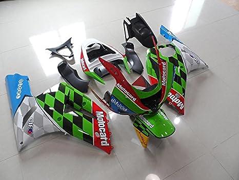 Amazon.com: Moto Onfire Green Racing ABS Injection Fairing ...