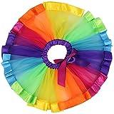 Geekercity Girls' Layered Rainbow Tutu Skirt Dance