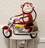 Happy Monkey Riding Bike Nightlight Lamp Candle Kids Rooms Home Decor Birthday Housewarming Congratulatory Blessing Souvenir Gift US Seller