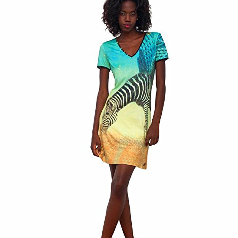 STEKOST Women's Bodycon Dress multi-coloured multicolored