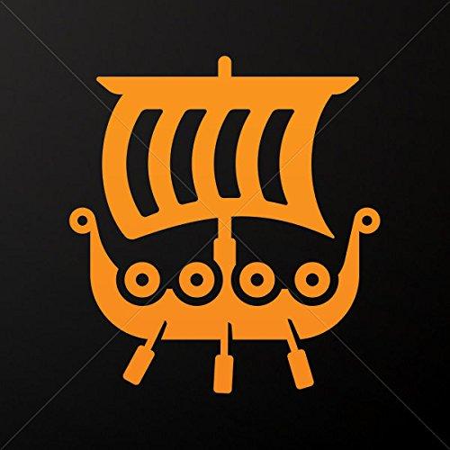 Decals Decal Ancient Greek Ship Triiris Tablet Laptop Weatherproof Spo Orange (45 X 41.4 In)