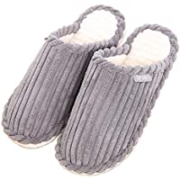 Comfy Women's Coral Fleece Memory Foam Slippers Plush Slip-On Clog House Shoes