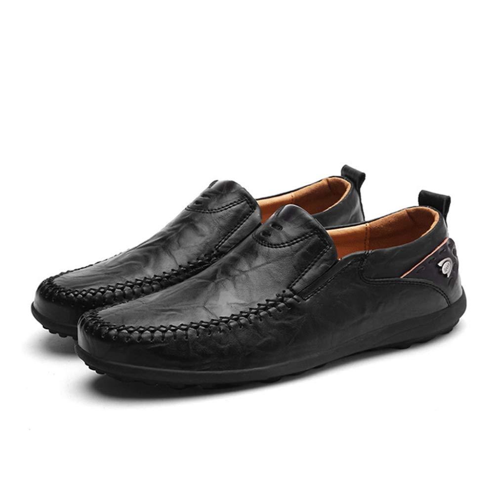 DAN Zapatos Casuales Mocasines De De De Hombre Zapatos Hechos A Mano Zapatos De Trabajo Zapatos De Vestir De Negocios Guisantes Zapatos De Conducción Al Aire Libre 9f53dc