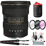 Tokina AT-X 116 PRO DX-II 11-16mm f/2.8 Lens for Canon EF (USA Warranty) with 3Pc. Filters, Xpix Camera Cleaning Kit, and Deluxe Accessory Bundle