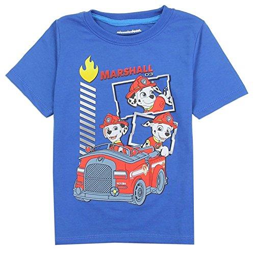 Paw Patrol Boys Graphic T-Shirt (4T, Dark Blue)]()