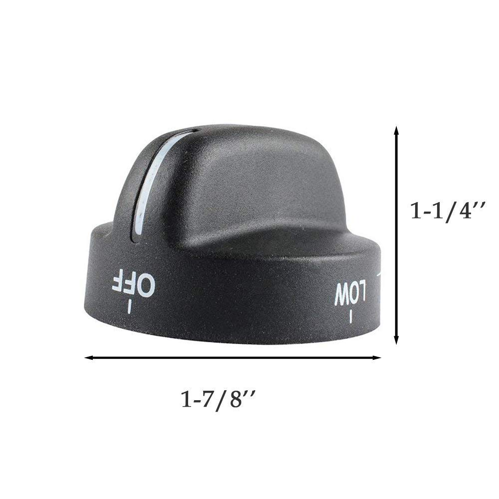 WP8273103 8273103 Knob Compatible for Whirlpool Kenmore Range Oven Replace Part WP8273103 AP6012363 for Gas Stove Knobs by Swess Pack of 2