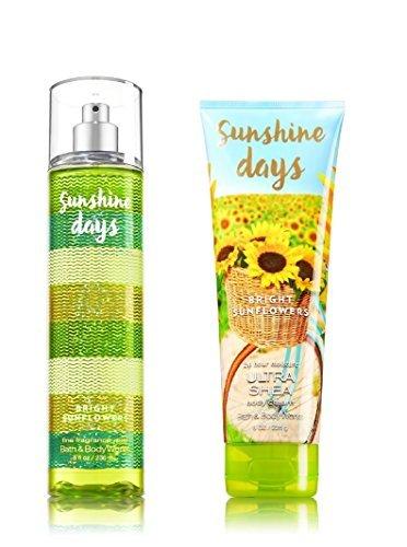 Bath & Body Works ~ Signature Collection ~ Sunshine Days - Bright Sunflowers ~ Gift Set~ Fine Fragrance Mist & Ultra Shea Body Cream -