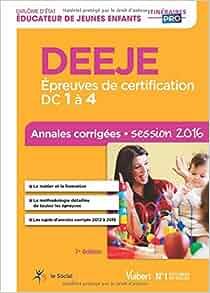 Deeje preuves de certification dc 1 4 annales for Educateur de jeunes enfants