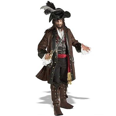 Fiesta de Disfraces de Halloween Capitán Jack Sparrow Traje Adulto ...