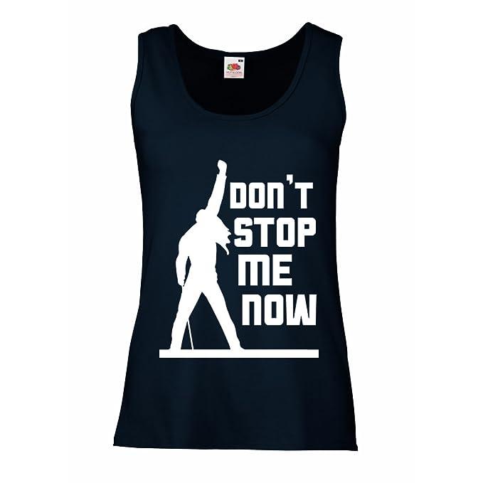 Camisetas sin Mangas para Mujer Dont Stop me Now! Camisas de Abanico, Regalos de Músicos, Ropa de Rock: Amazon.es: Ropa y accesorios