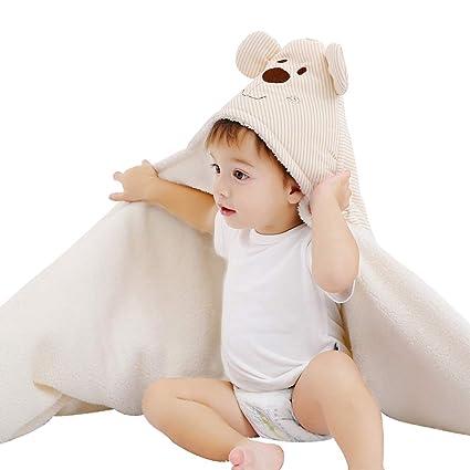 Manta de forro polar con capucha para bebé recién nacido, toalla de ...