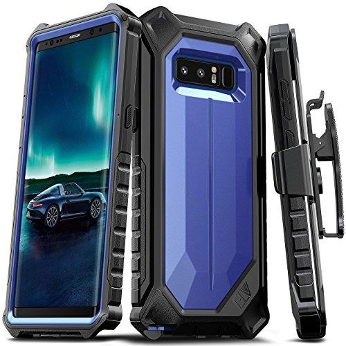 Samsung Galaxy Note 8 Case, ELV Premium Holster Belt Clip Rugged Case with Kickstand for Samsung Galaxy Note 8 (Dark Blue/Black)