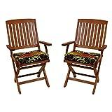 Blazing Needles Patio Folding Chair Cushion (Set ot 2) - Montserrat Sangria