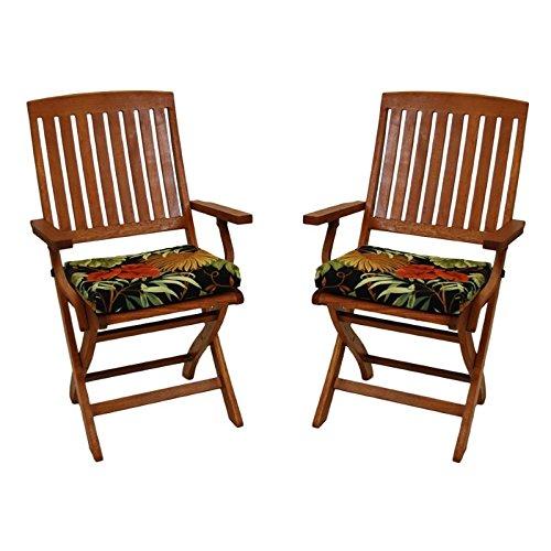 Blazing Needles Patio Folding Chair Cushion (Set ot 2) - Montserrat Sangria by Blazing Needles