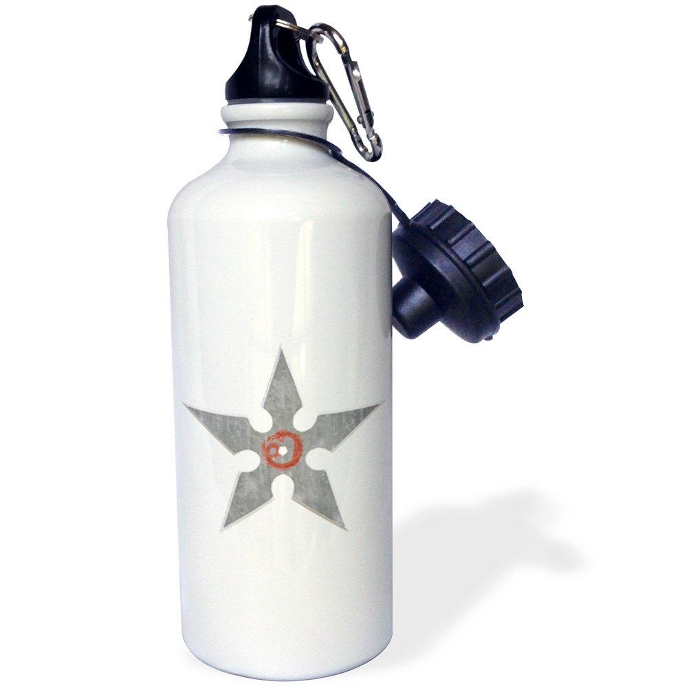 3D Rose wb/_244351/_1 Sports Water Bottle 21 oz White
