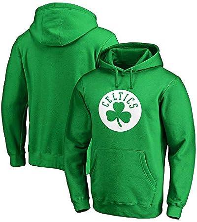 Hoodies Camiseta De Manga Larga Jersey Sudadera con Capucha Boston Celtics Kyrie Irving Masculino Impreso Camiseta Resistente Camisa con Capucha Sudadera Cómodo Green-XXL