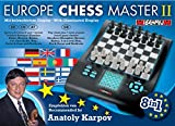 Millennium Europe Chess Master II, Model M800 – Chess, Checkers, Othello / Reversi, Halma, 4 in a Row, Nim, Fox & Geese, and Northcotes game Electronic Computer Board Set