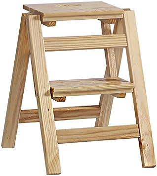 Gjrff Taburete Plegable De Escalera De Madera De 2 Escalones Taburete De Escalera De Escalada Interior Y Exterior For El Hogar (Color : Wood color): Amazon.es: Bricolaje y herramientas