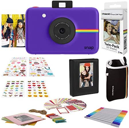 Polaroid Digitale Instant Snap Kamera Mit Zink Zero Ink Technologie Geschenk Bundle Lila