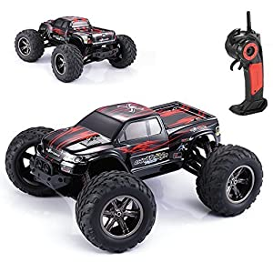 AMOSTING S911 35MPH 1/12 Scale 2.4GHz Remote Control Monster Truck - Red - 51wx1j6Y 2BXL - ICS RC Cars, AMOSTING 35MPH 1/12 Scale 2.4GHz 2WD High Speed Off Road Remote Control Car Monster Trucks