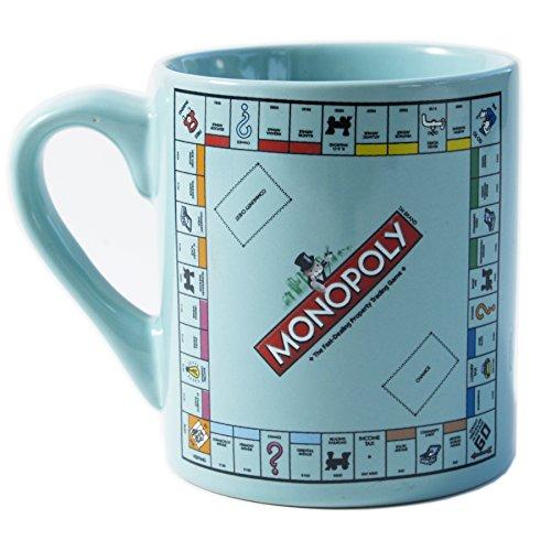 Monopoly Mug - Monopoly Board Blue Ceramic Coffee Mug, 14 Ounce