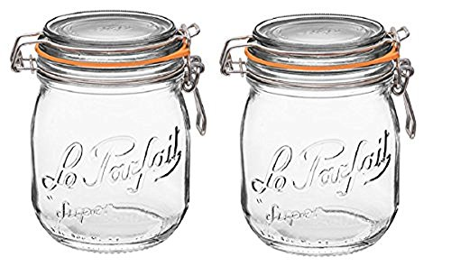 per Jar with 85mm Gasket and Lid .75 Liter (Pack of 2) ()