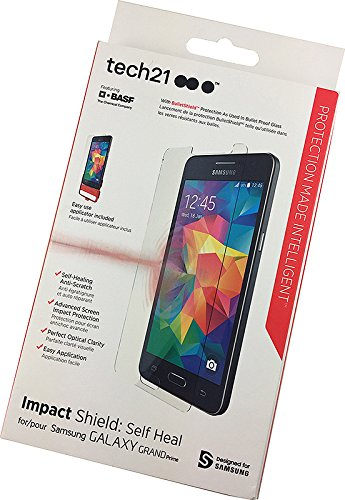 finest selection a024a a6d18 Tech21 Impact Shield: Self Heal Screen Protector for the Samsung Galaxy  GRAND Prime