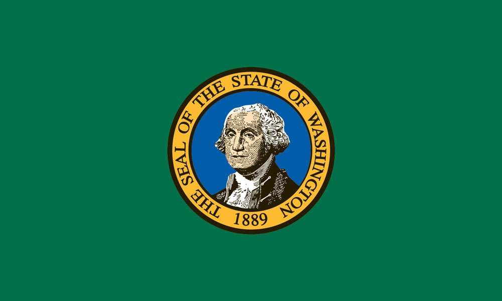 Valley Forge Flag 4-Foot by 6-Foot Nylon Washington State Flag with Canvas Header and Grommets by Valley Forge