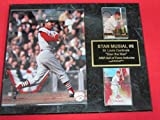 Stan Musial St Louis Cardinals 2 Card Collector Plaque #2 w/8x10 Photo