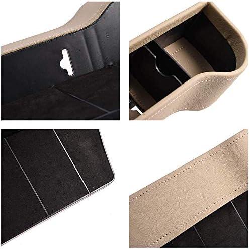 Schwarz-Richtig Sarah Duke Auto-Sitz Gap Storage Box PU-Leder-Side Pocket-Organizer Mit M/ünzfach Becherhalter Hilft Abgelenkt Driving /& Verkleinerung H/ält Telefon Geldkarten Keys Fern