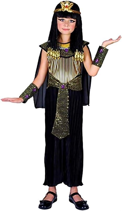 Disfraz de Cleopatra - Egipcio - negro - disfraz - niña - 7-9 años ...
