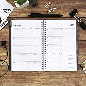 Blue Sky 2020 Weekly & Monthly Planner, Flexible Cover, Twin-Wire Binding, 5″ x 8″, Enterprise