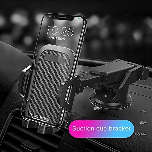 Rui Peng 携帯電話スタンド - カー電話ホルダーカーボンファイバー携帯電話アクセサリーユニバーサルカーブラケット360回転調節可能なGPSスマートフォンホルダー
