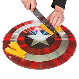 Marvel Avengers Captain America Shield Cutting Board - Non Slip Feet