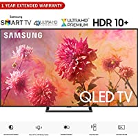 Samsung QN75Q9FNA 75 Q9FN QLED Smart 4K UHD TV (2018 Model) - (Certified Refurbished) with 1 Year Extended Warranty