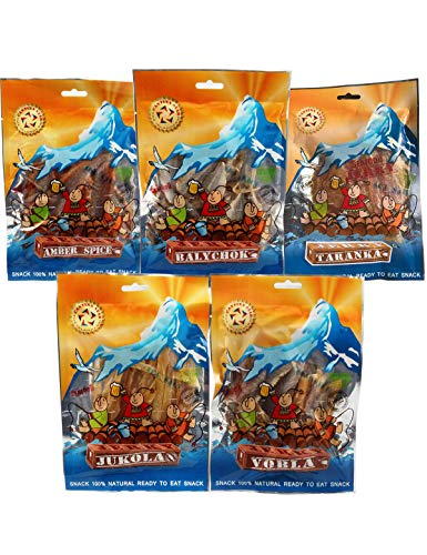 CANTINA STAR Beer Party Set | Fish Jerky (Dried Fish) | Vobla, Balychok, Taranka, Jukola Cod, Amber Spice | 3.17oz - 5 Count